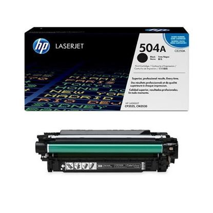 Picture of HP 504A Black Original Toner Cartridge (CE250A Laser Toner)