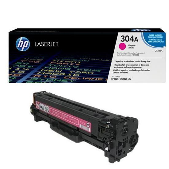 Picture of HP 304A Magenta Original Toner Cartridge (CC533A Laser Toner)