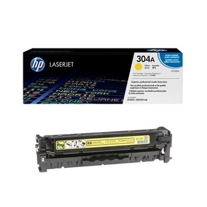 Picture of HP 304A Yellow Original Toner Cartridge (CC532A Laser Toner)