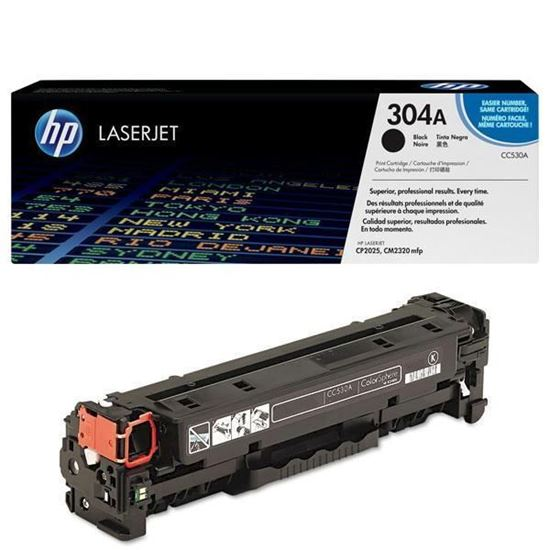 Picture of HP 304A Black Original Toner Cartridge (CC530A Laser Toner)