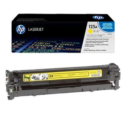 Picture of HP 125A Yellow Original Toner Cartridge (CB542A Laser Toner)