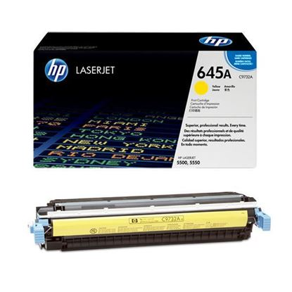 Picture of HP 645A Yellow Original Toner Cartridge (C9732A Laser Toner)
