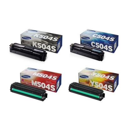 Picture of Samsung CLT-504S Black, Cyan, Magenta, Yellow Toner Cartridge Multipack (CLT-504S/ELS Laser Toner)