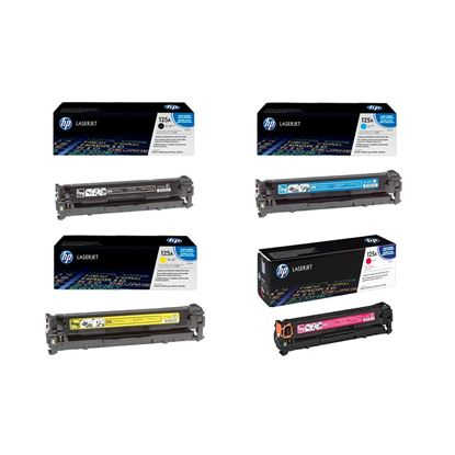 Picture of HP 125A Black, Cyan, Magenta, Yellow Original Toner Cartridge Multipack (CB540/1/2/3A Laser Toner)