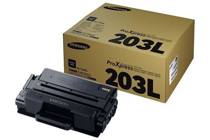 Picture of Samsung MLT-D203L High Yield Black Original Toner Cartridge (MLT-D203L/ELS Laser Toner)