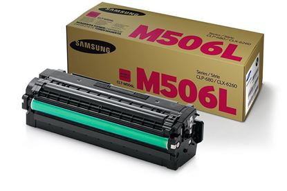 Picture of Samsung CLT-M506L High Yield Magenta Original Toner Cartridge (CLT-M506L/ELS Laser Toner)
