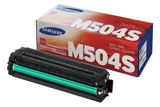 Picture of Samsung CLT-M504S Magenta Original Toner Cartridge (CLT-M504S/ELS Laser Toner)
