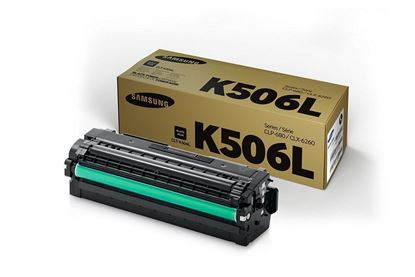 Picture of Samsung CLT-K506L High Yield Black Original Toner Cartridge (CLT-K506L/ELS Laser Toner)