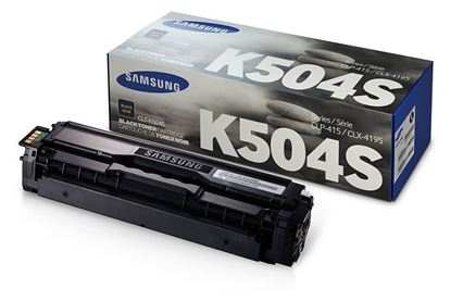 Picture of Samsung CLT-K504S Black Original Toner Cartridge (CLT-K504S/ELS Laser Toner)