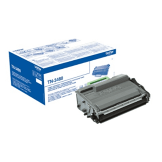 Picture of Brother TN-3480 High Yield Black Original Toner Cartridge (TN3480 Laser Toner)