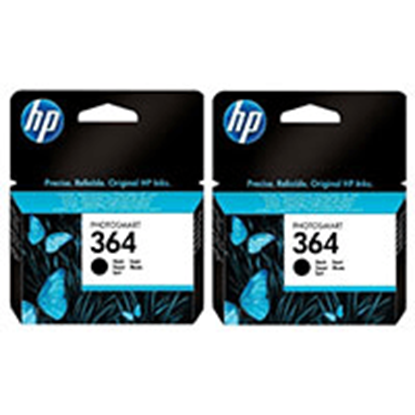 Picture of HP 364 Black Original Ink Cartridge Twin Pack