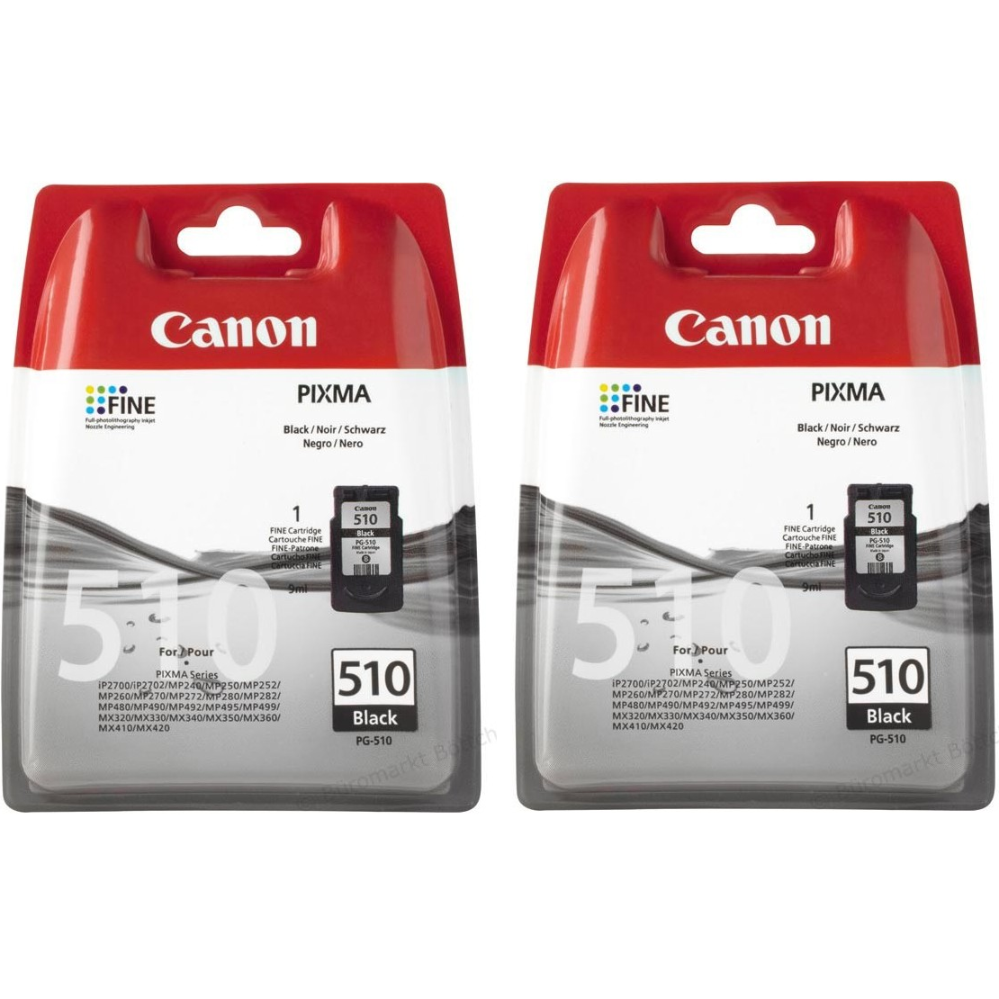 Canon Pg 510 Black Original Ink Cartridge Twin Pack Red Bus Cartridges Cl 41 Colour Double Tap To Zoom