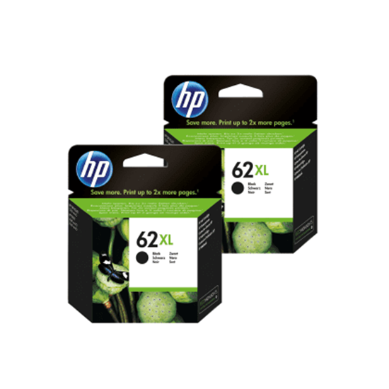Picture of HP 62XL Black Original Ink Cartridge Twin Pack