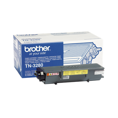 Picture of Brother TN-3280 High Yield Black Original Toner Cartridge (TN3280 Laser Toner)