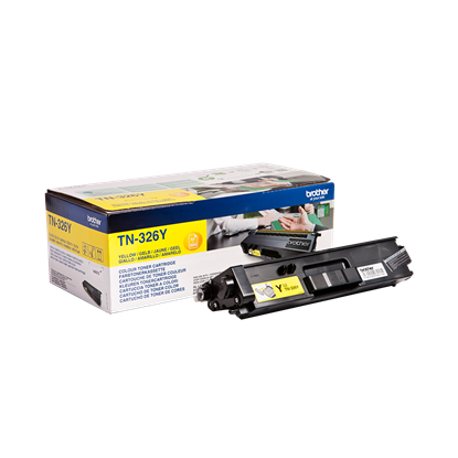 Picture of Brother TN-326Y High Yield Yellow Original Toner Cartridge (TN326Y Laser Toner)