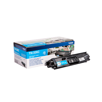 Picture of Brother TN-326C High Yield Cyan Original Toner Cartridge (TN326C Laser Toner)