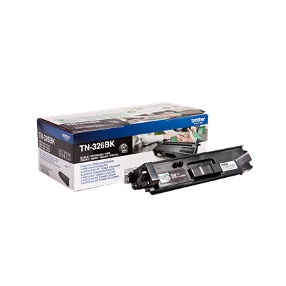 Picture of Brother TN-326BK High Yield Black Original Toner Cartridge (TN326BK Laser Toner)