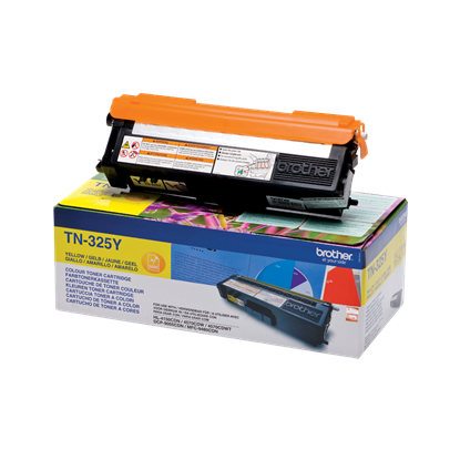 Picture of Brother TN-325Y High Yield Yellow Original Toner Cartridge (TN325Y Laser Toner)
