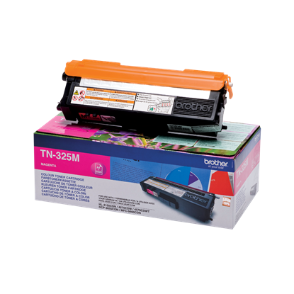 Picture of Brother TN-325M High Yield Magenta Original Toner Cartridge (TN325M Laser Toner)