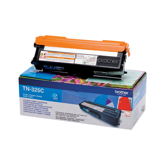 Picture of Brother TN-325C High Yield Cyan Original Toner Cartridge (TN325C Laser Toner)