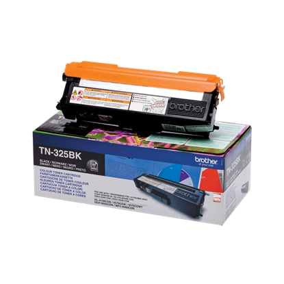 Picture of Brother TN-325BK High Yield Black Original Toner Cartridge (TN325BK Laser Toner)