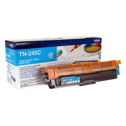 Picture of Brother TN-245C High Yield Cyan Original Toner Cartridge (TN245C Laser Toner)