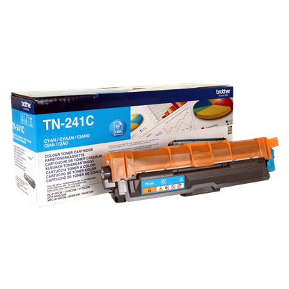 Picture of Brother TN-241C Cyan Original Toner Cartridge (TN241C Laser Toner)