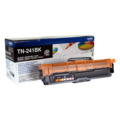 Picture of Brother TN-241BK Black Original Toner Cartridge (TN241BK Laser Toner)