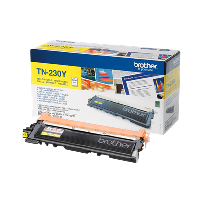 Picture of Brother TN-230Y Yellow Original Toner Cartridge (TN230Y Laser Toner)