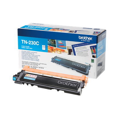 Picture of Brother TN-230C Cyan Original Toner Cartridge (TN230C Laser Toner)