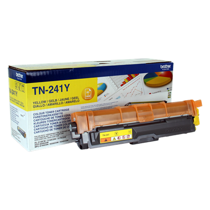 Picture of Brother TN-241Y Yellow Original Toner Cartridge (TN241Y Laser Toner)