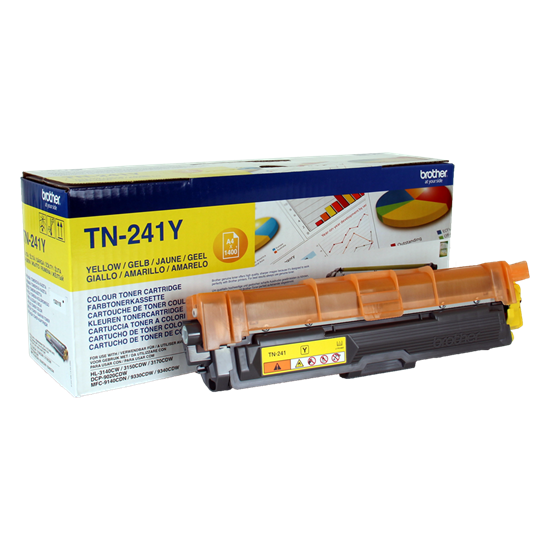 Picture of Brother TN-241Y Yellow Original Toner Cartridge (TN241Y Laser Toner)