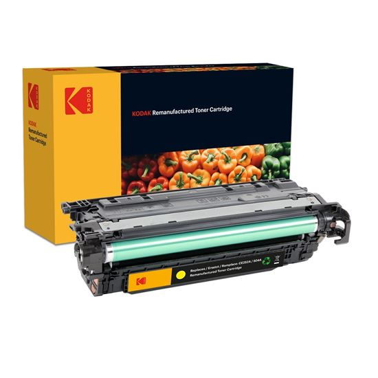 Picture of Kodak Replacement HP 504A Yellow (CE252A) Toner Cartridge