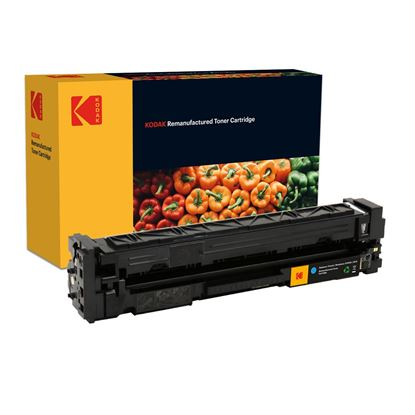 Picture of Kodak Replacement HP 201X High Yield Cyan (CF401X) Toner Cartridge