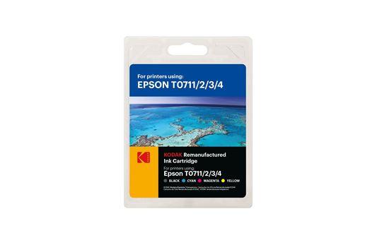 Picture of Kodak Replacement Epson T0715 Black, Cyan, Magenta, Yellow Ink Cartridge Multipack