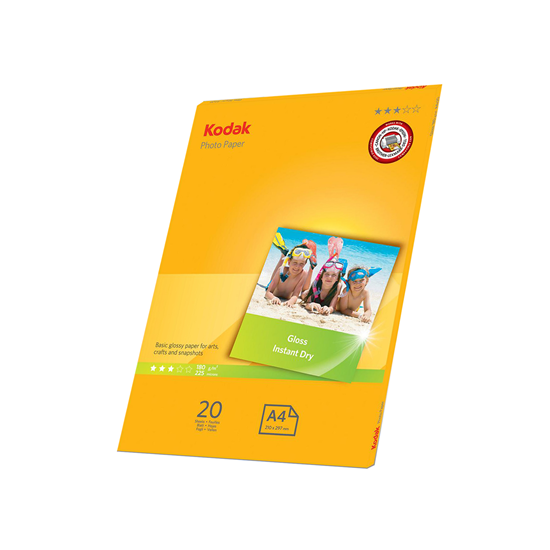 Picture of KODAK A4 Photo Gloss Paper 180g x20