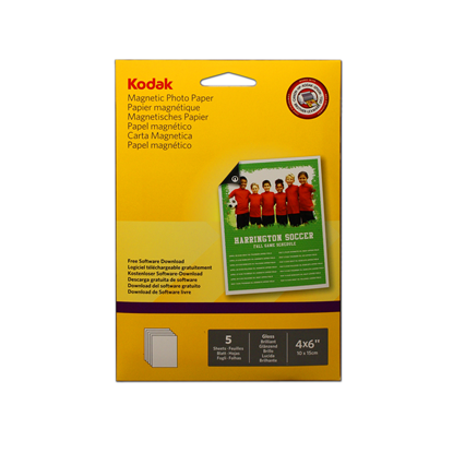 Picture of KODAK A6 (6x4) Magnetic Photo Paper x5