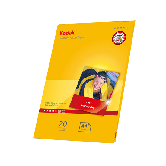 Picture of KODAK Premium A4 Photo Gloss Paper 240g x20