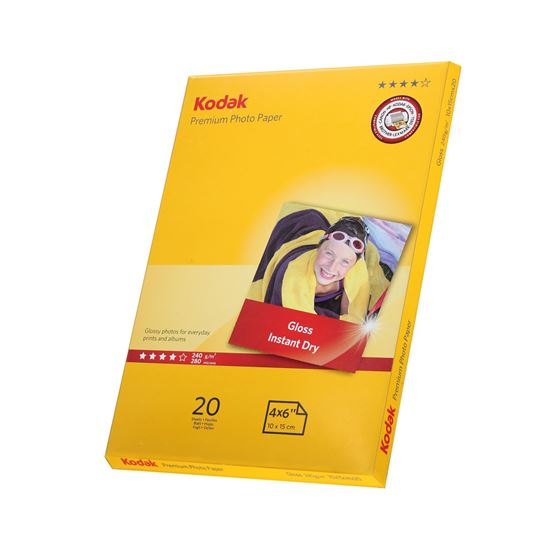 Picture of KODAK Premium A6 (6x4) Photo Gloss Paper 240g x20