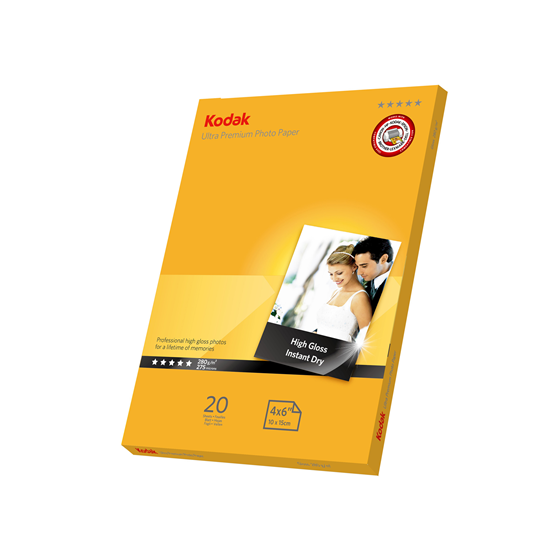 Picture of KODAK Ultra A6 (6x4) Premium Photo Gloss Paper 280g x20