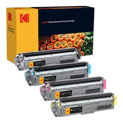 Picture of Kodak Replacement Brother TN-241 Black, TN-245 Cyan, Magenta, Yellow Toner Cartridge Multipack