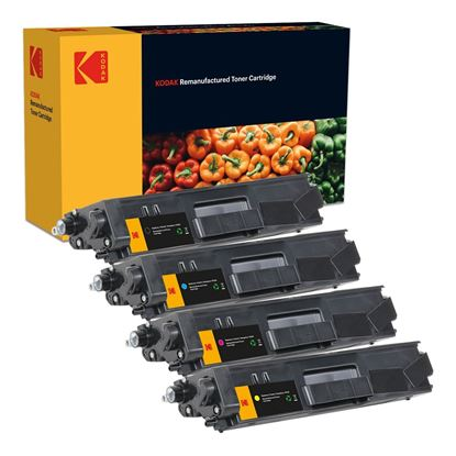 Picture of Kodak Replacement Brother TN-325 High Yield Black, Cyan, Magenta, Yellow Toner Cartridge Multipack