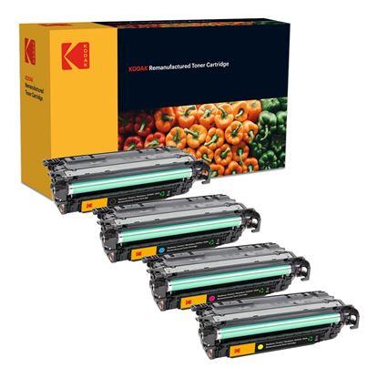 Picture of Kodak Replacement HP 504A/X Black, Cyan, Magenta, Yellow (CE250X/1/2/3A) Toner Cartridge Multipack