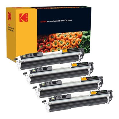 Picture of Kodak Replacement HP 126A Black, Cyan, Magenta, Yellow (CE310/1/2/3A) Toner Cartridge Multipack