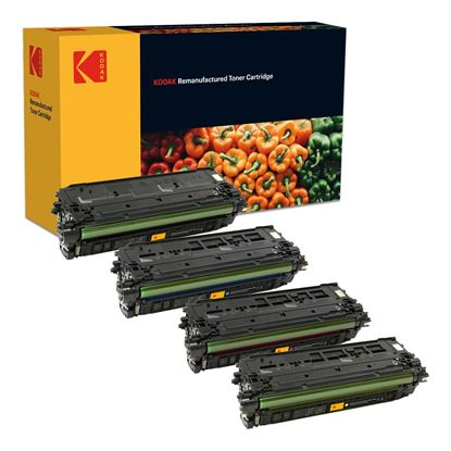 Picture of Kodak Replacement HP 508A Black, Cyan, Magenta, Yellow (CF360/1/2/3A) Toner Cartridge Multipack