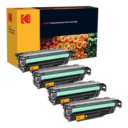 Picture of Kodak Replacement HP 507A/X Black, Cyan, Magenta, Yellow (CE400X/1/2/3A) Toner Cartridge Multipack