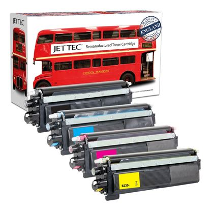 Picture of Red Bus Recycled Brother TN-230 Black, Cyan, Magenta, Yellow Toner Cartridge Multipack