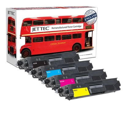 Picture of Red Bus Recycled Brother TN-325 High Yield Black, Cyan, Magenta, Yellow Toner Cartridge Multipack