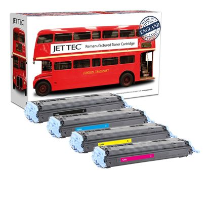 Picture of Red Bus Recycled 124A Black, Cyan, Magenta, Yellow (Q6000/1/2/3A) Toner Cartridge Multipack (suitable for use in HP printers)