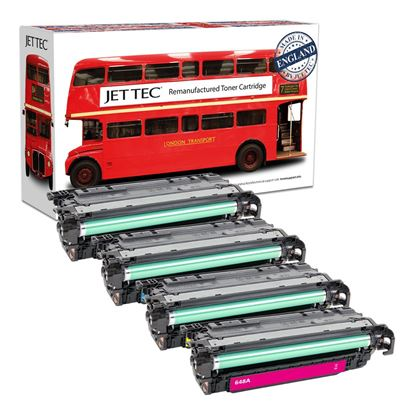 Picture of Red Bus Recycled HP 649X/648A Black, Cyan, Magenta, Yellow (CE260X/1/2/3A) Toner Cartridge Multipack